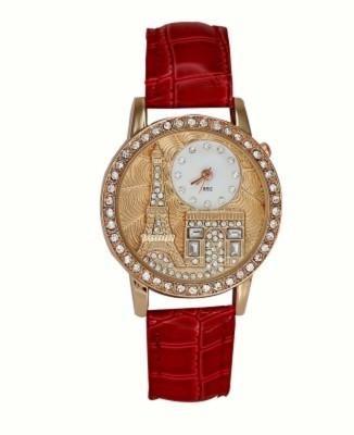 Yashmit Diamond Studded Eiffel Tower Red YE-4329 Analog Watch  - For Women