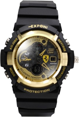 Exponi Gold Edition Shock Analog-Digital Watch  - For Boys, Men