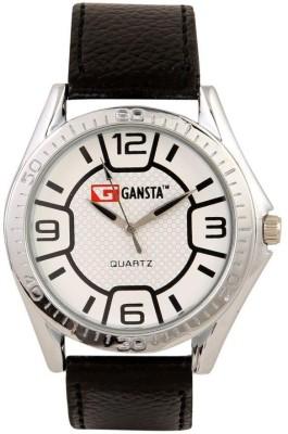 Gansta GT102-5-Wht-Blk Analog Watch  - For Men, Boys
