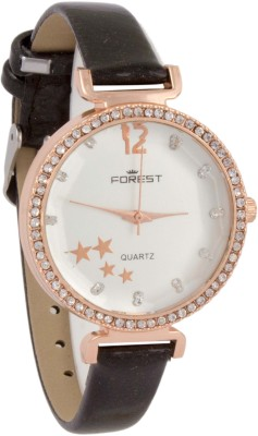 Forest Addic Crystal Studded Case And Dial (74) Analog Watch  - For Women