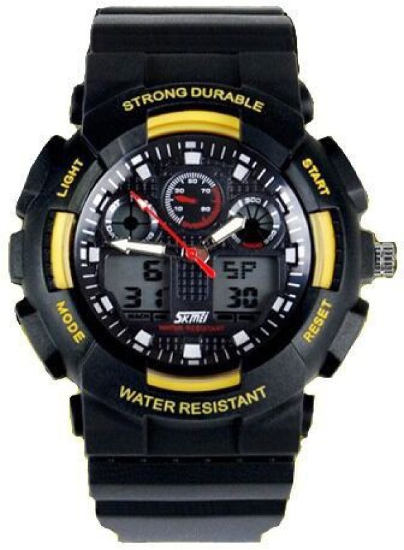 Skmei AD0909 YL Lcd Analog Digital Watch For Men