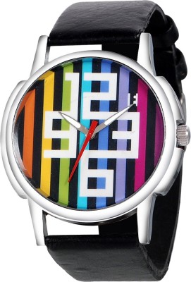Excelencia MW-20-Muticolor_Strips Analog Watch  - For Men