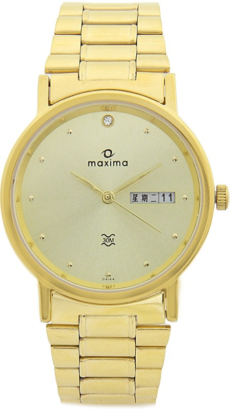 Maxima 04144CMGY Analog Watch For Men