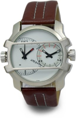 AF Xelx160 Tan dual time leather NA Analog Watch  - For Men