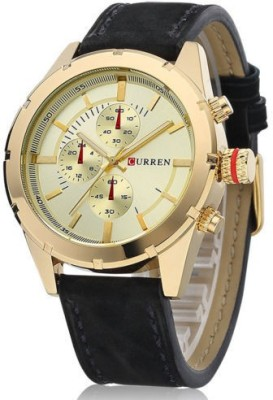 Curren Nx Signature Luxury Gold Dial Analog Watch  - For Men, Boys