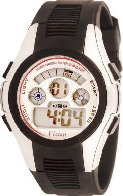 Vizion 8521B-3BLACK Cold Light Digital Watch  - For Boys, Girls