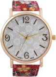 3WISH White Dial Fabric Strap Analog Wat...