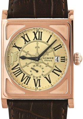 Aiqon S0130001-Champagne Maximum City Analog Watch - For Men
