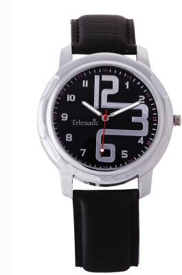 Telesonic TSDM-02(Black) Classic Design Analog Watch  - For Men