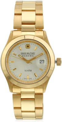 Swiss Military 523-GLD/SIL Analog Watch  - For Women