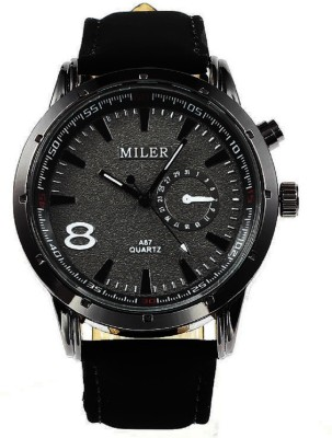 Miler A87 Dull Finish Strap Analog Watch  - For Men