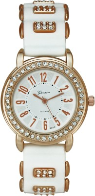 Geneva Platinum Stylish Silicone Strap Analog Watch - For Women, Girls