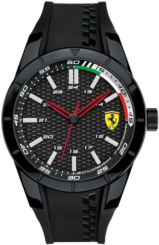 Scuderia Ferrari 0830301 Red Rev Analog Watch For Men