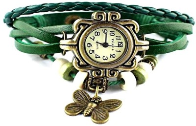 Designculture dgcVINTAGE-Green Vintage butterfly Analog Watch  - For Girls