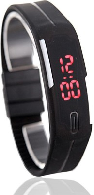 Style Feathers Magnet Led Digital Watch  - For Men