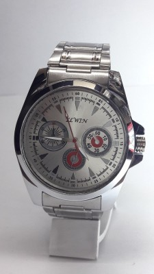 Elwin Round-Elav11d Steel Chain chrono Analog Watch  - For Men, Boys