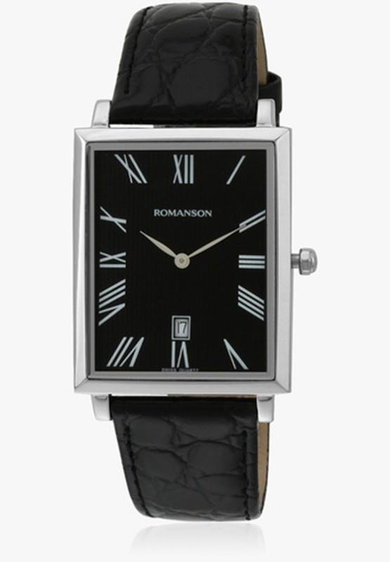 Romanson Tl6522cmwbk Swiss Quartz Analog Watch For Men