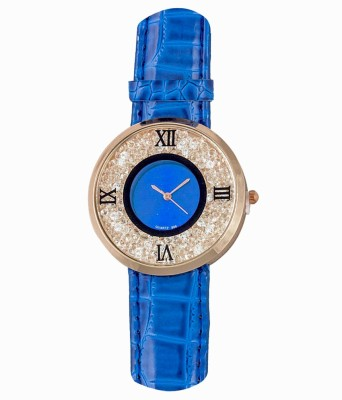 RBS Online Trading Company MovingBeeds_Roman_BLUE Analog Watch  - For Women, Girls