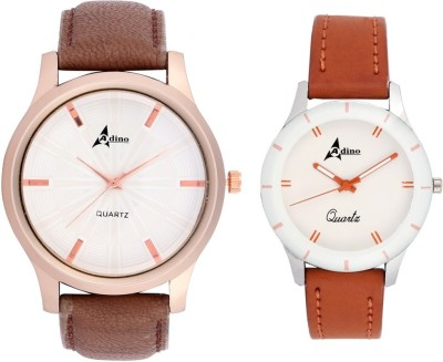 Adino Combo 7270 Analog Watch  - For Couple