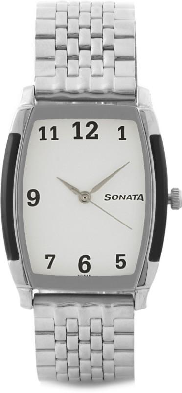 Sonata NG7080SM01C Retro Trav Analog Watch For Men