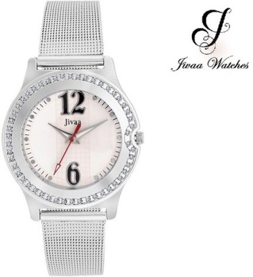 Jivaa JV_CK5431 Crystals Studded Elegant Collection Analog Watch  - For Girls, Women