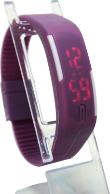Abhilasha's Store Purple LED Digital Watch  - For Boys, Girls, Men, Women