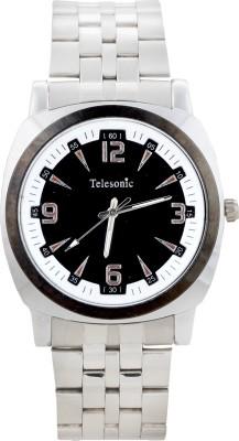 Telesonic GCS13-BLACK Platinum Time Analog Watch  - For Men