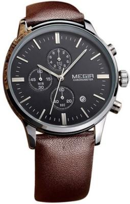 Megir 2011-BLK-SLV Analog Watch  - For Men