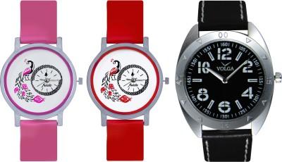 Frida Designer VOLGA Beautiful New Branded Type Watches Men and Women Combo617 VOLGA Band Analog Watch  - For Couple