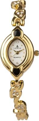 Lenco CPLENCOLADIES12W Lenco Golden Beauty Analog Watch  - For Women