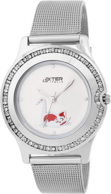 Oxter Quacky White Stylo Analog Watch  - For Women