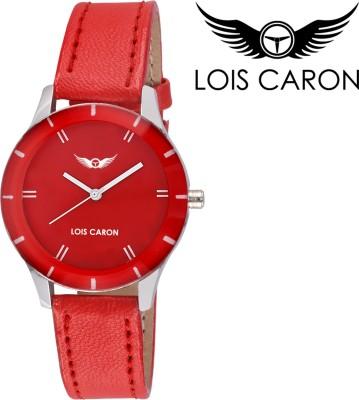 Lois Caron LCS-4505 RED ANALOG Analog Watch  - For Girls, Women