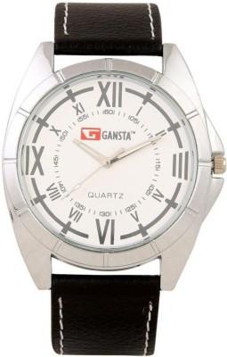 Gansta GT101-5-Wht-Sil Analog Watch  - For Men, Boys