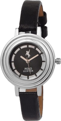 Polo Hunter Polo Hunter 308 Black Women's Watch Modest Analog Watch  - For Women