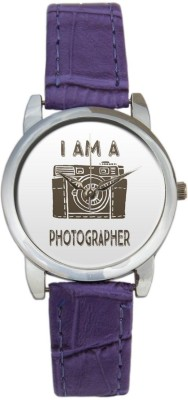 BigOwl BigOwl I am Photographer Camera Illustration 2004394503-RS3-S-PUR Analog Watch  - For Women