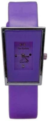 Hari Krishna Enterprise Glory Square Purple Analog Watch  - For Girls, Women