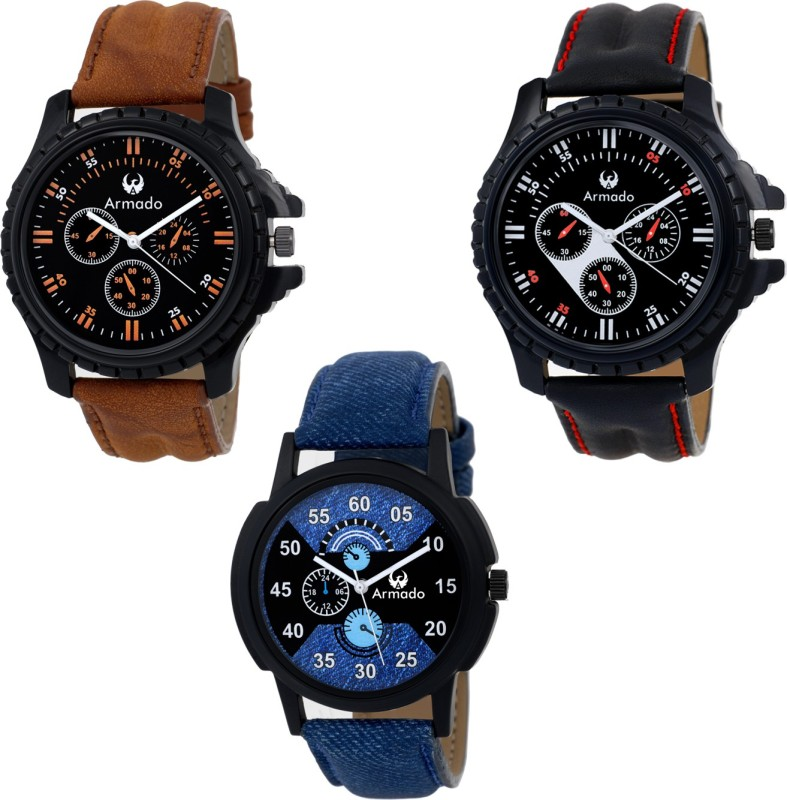 Armado AR 621251 Triple Watches Combo Triple Watch Combo Analog W