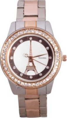 Sooms Sooms Eiffel Tower Display Gold Diamonds M109 Analog Watch  - For Women