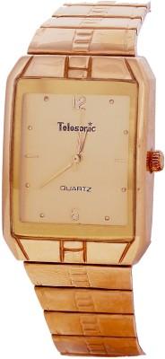Telesonic 12RGSQM-03 GOLD Golden Era Analog Watch  - For Men