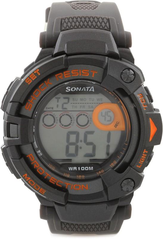 Sonata NH77010PP04J Digital Watch For Men
