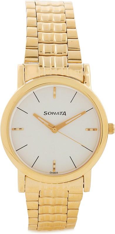Sonata NF7987YM05CJ Klassik Analog Watch For Men