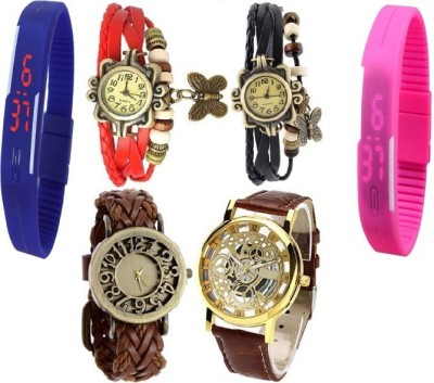 Users 222-LDBTQT Okey-Kuttu Analog-Digital Watch  - For Boys, Men, Girls, Women, Couple