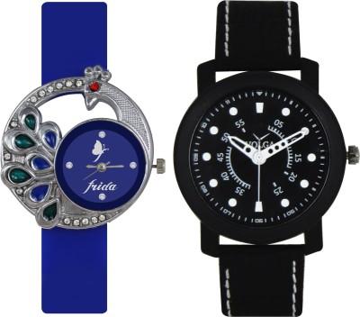 Frida Designer VOLGA Beautiful New Branded Type Watches Men and Women Combo46 VOLGA Band Analog Watch  - For Couple
