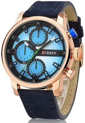 Curren Nx Luxury Colossal Sapphire Blue Dial Analog Watch  - For Men, Boys