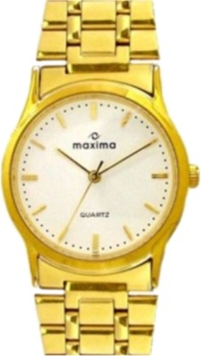 Maxima 01427CMGY Gold Analog Watch  - For Men
