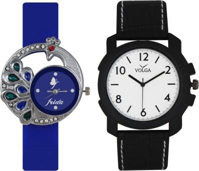 Frida Designer VOLGA Beautiful New Branded Type Watches Men and Women Combo44 VOLGA Band Analog Watch  - For Couple