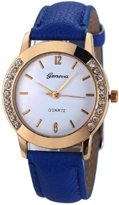 Geneva Platinum Stylish Bezel Analog Watch - For Women, Girls