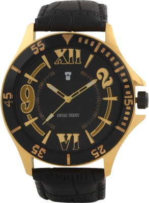 Swiss Trend Artshai1639 Golden Analog Watch  - For Men