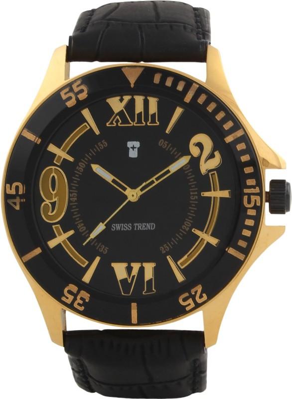 Swiss Trend Artshai1639 Golden Analog Watch For Men