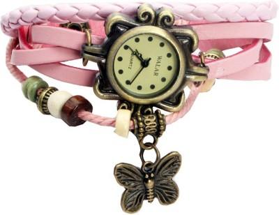 Designculture dgcVINTAGE-L.Pink Vintage butterfly Analog Watch  - For Girls
